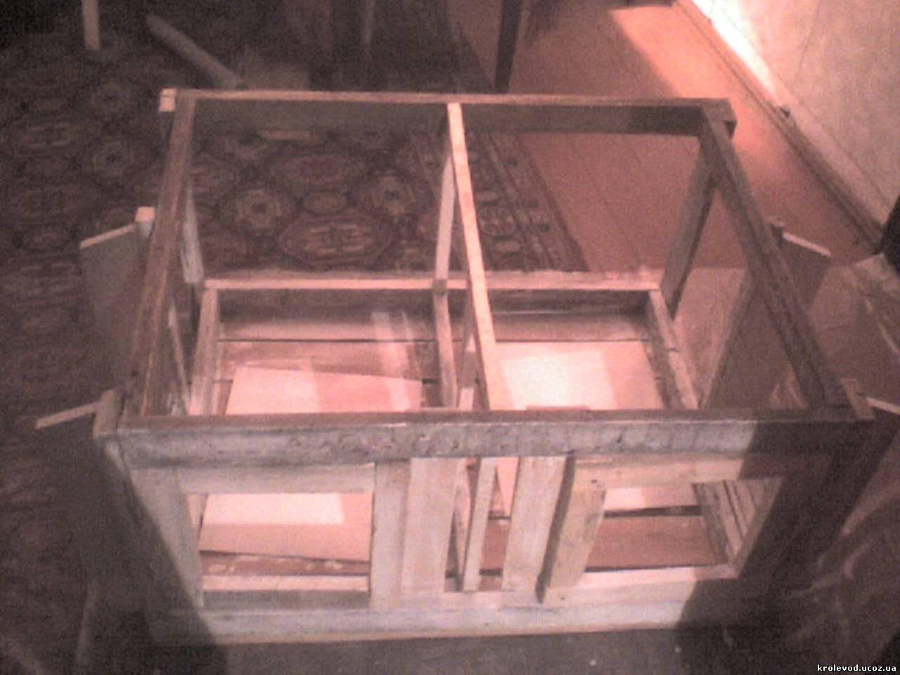 клітка для кролів із пошаговим описом, клетка для кроликов с чертежами